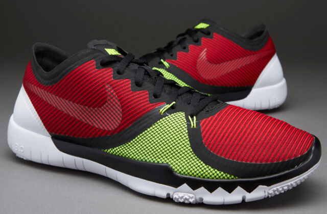 check out 4a65c 9b289 Nike Free Trainer 3.0 V4 Men s Black  Red Volt Training Shoes 749361-066