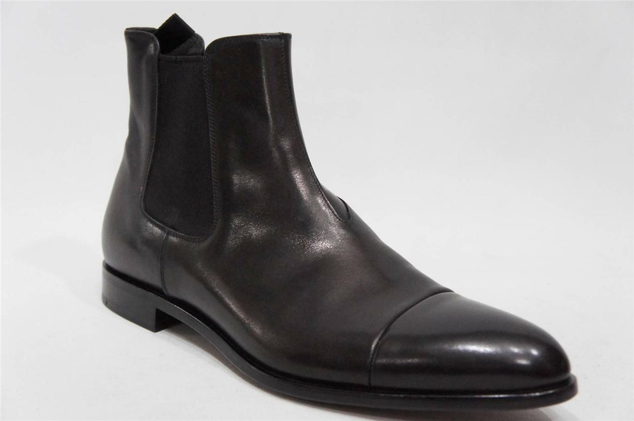 PRADA POLISHED CAP-TOE LEATHER SLIP-ON ANKLE BOOTS SHOES 8 9  850