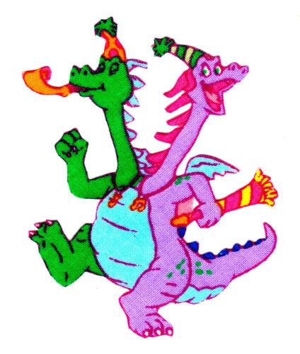 """2.5/"""" Dragon tales birthday fabric applique iron on character"""