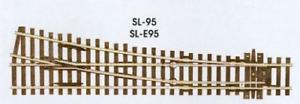 Peco-SL-95-Medium-Radius-Right-Hand-Point-Insulfrog-code-100-rail-OO-Gauge