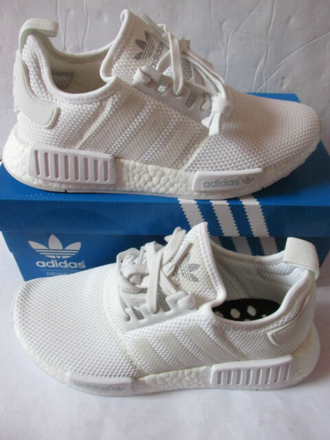 174c36b22 adidas NMD R1 Triple White Size UK 9 Limited Edition Deadstock ...