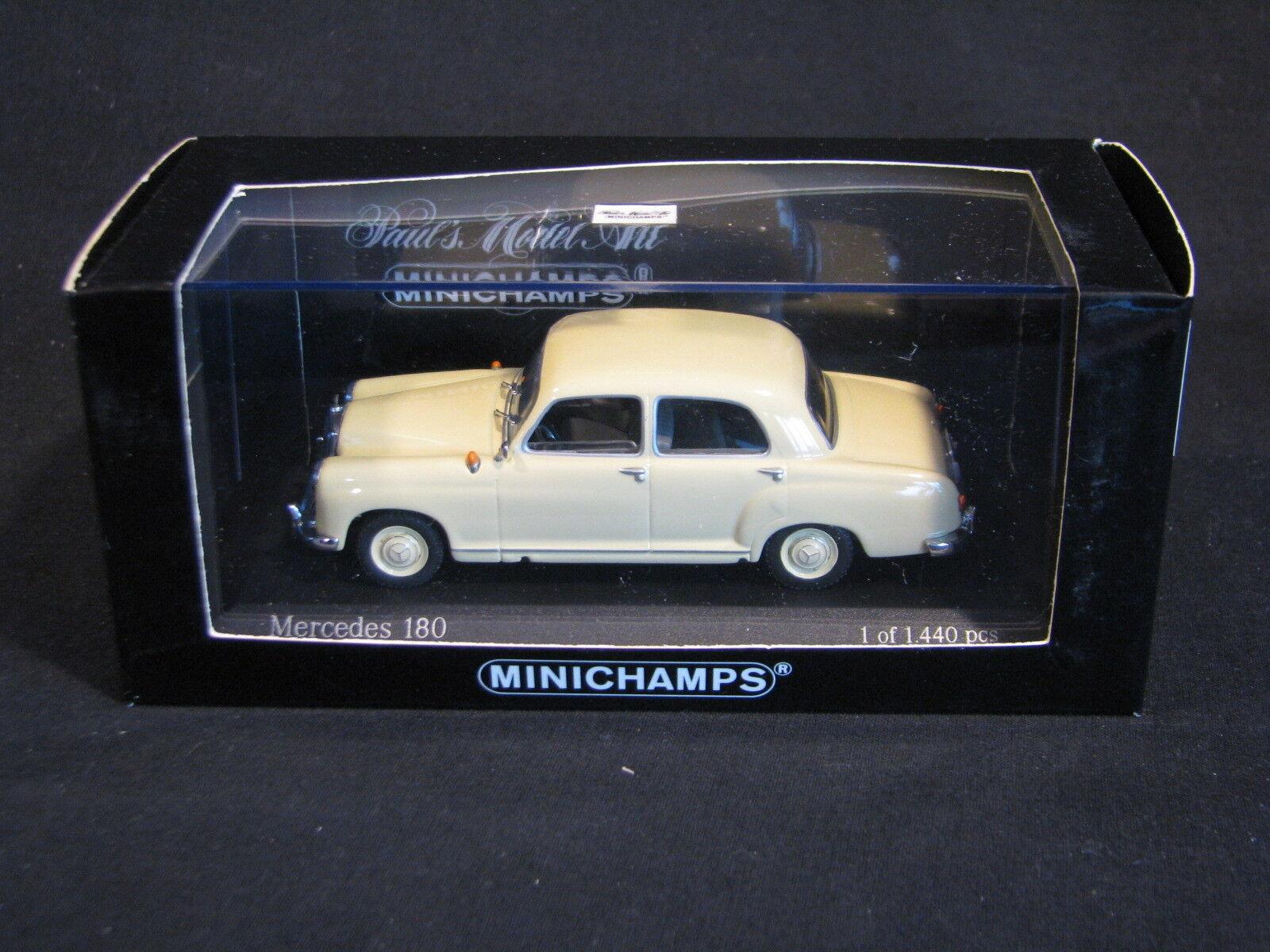 Minichamps Mercedes-Benz Mercedes-Benz Mercedes-Benz 180 1953-1957 1 43 Ivory (JS) 2a1aff