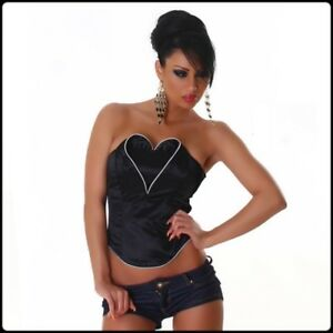 CORSET-LOVE-SEXY-BLACK-MODE-FASHION-amp-TENDANCE-ideal-Soire-Cocktail-Club