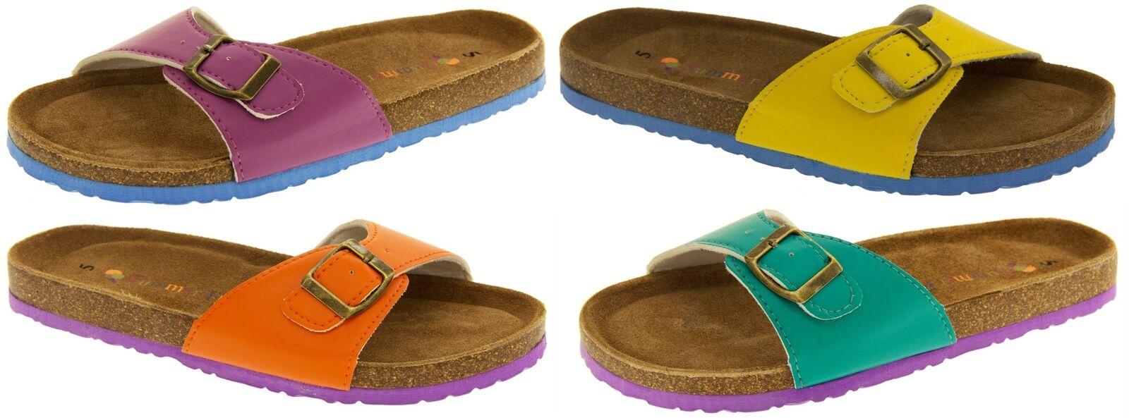 Ladies Coolers Summer Flip Mules Ladies Faux Leather Flip Summer Flops Sandals Sz 4 5 6 7 8 f6df29
