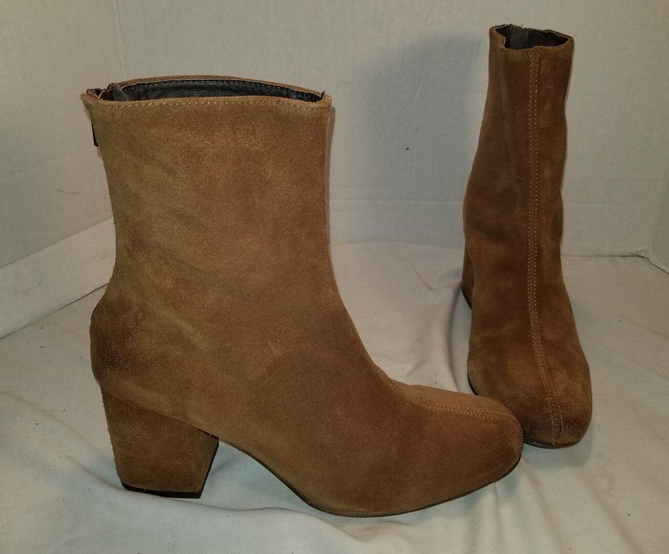 ANTHROPOLOGIE FREE PEOPLE WORLD TOUR BROWN SUEDE ANKLE BOOTS US 8
