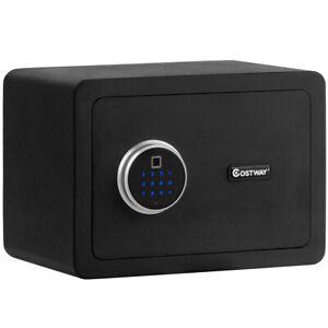 Fingerprint Safe Box Security Box w/Inner LED Light Store Cash Jewelry Guns