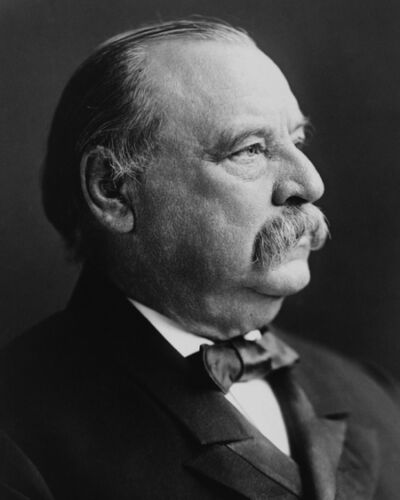 24th US Former President GROVER CLEVELAND Vintage 8x10 Photo Glossy Print