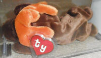ULTRA RARE Authenticated Ty 1st gen MWMT MQ! CHOCOLATE Beanie Baby - Korean Tags
