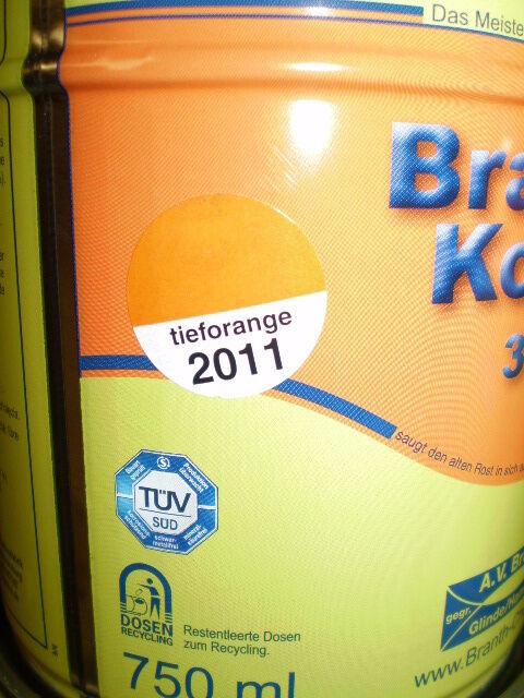 5l Brantho Korrux 3in1 Rostschutz RAL 2011 tiefOrange Metallschutz Farbe