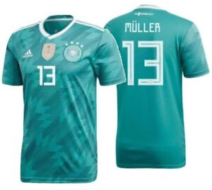 san francisco af243 d1a2d Details about ADIDAS THOMAS MULLER GERMANY AWAY JERSEY WORLD CUP 2018.
