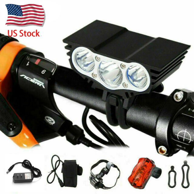 Rear Front Bike LED Light Waterproof Rechargeable Mountain Cree Cycle Torch