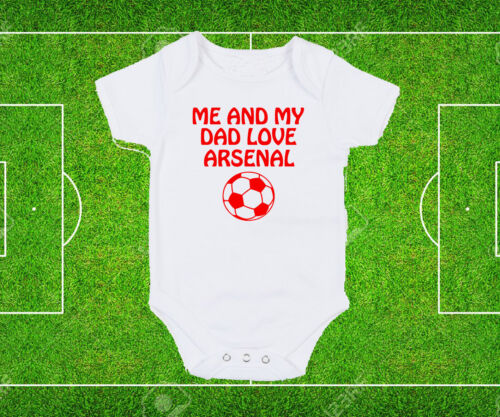 Bristol City Dad Grandad Love Football fan white baby grow bodysuit