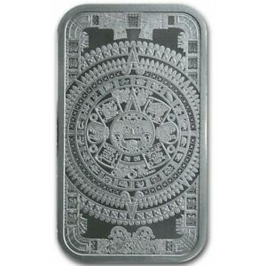 Barre-Argent-999-1000-Calendrier-Azteque-1-once
