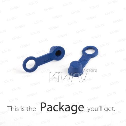 Blue brake bleeder caliper cap screw valve dust cover rubber retainer ring x2