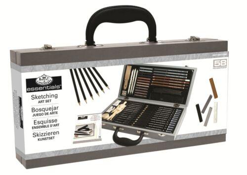 Almohadilla De Dibujo Dibujo Box Conjunto de Lujo Lápices Pasteles Maniquí carbón Sket 2000
