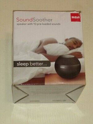 RCA White Noise Machine Sound Soother with 10 Pre-Loaded ...