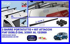 Barre Portatutto - Portapacchi - Portabagagli - Fiat Doblo' 03/2001 - 12/2009