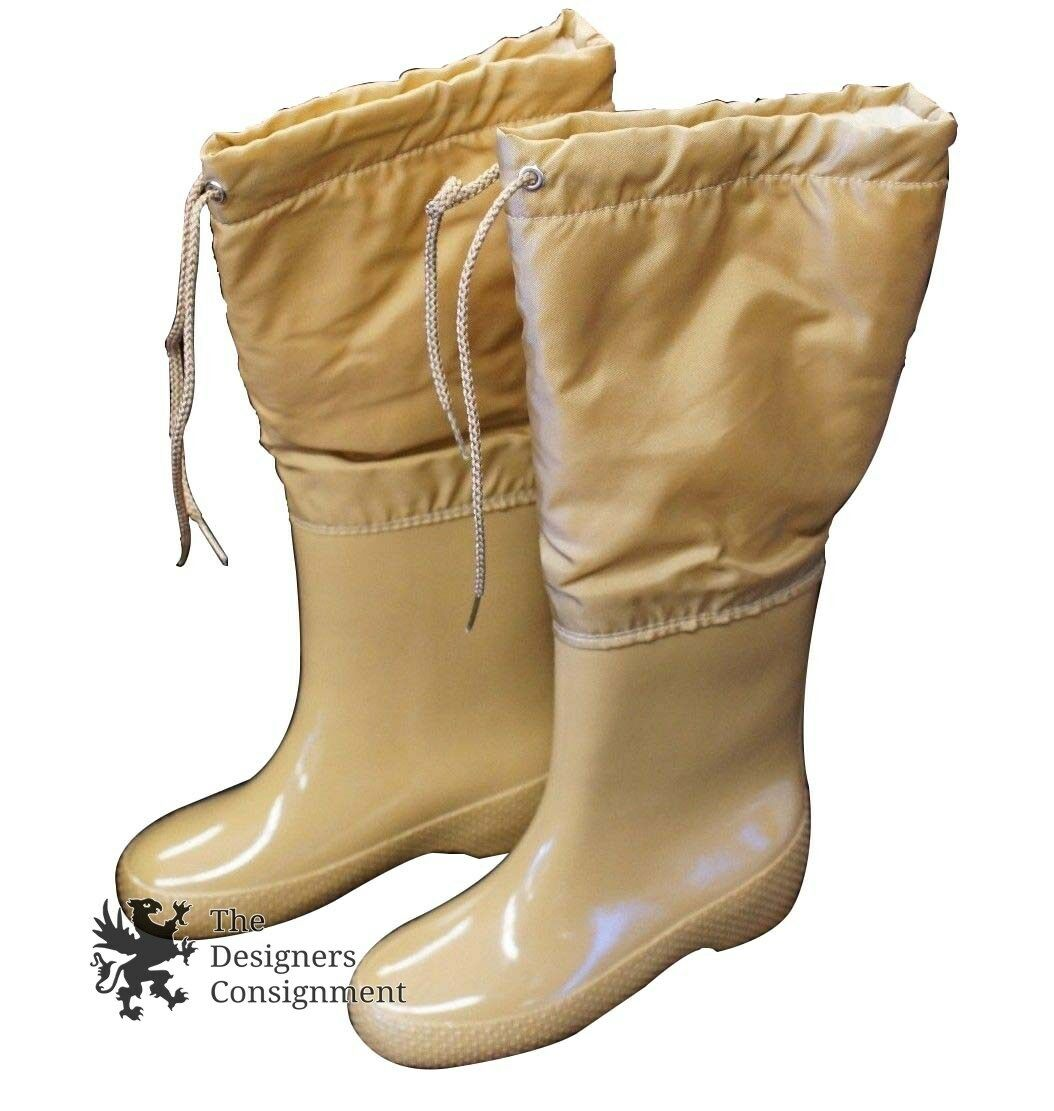 Andrew Geller Sleekers Boots London Womans Tan Size 5 w  Original Box Galoshes