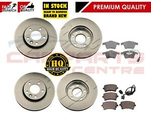 FOR-VW-TRANSPORTER-T5-1-9-2-5-FRONT-AND-REAR-VENTED-BRAKE-DISCS-PAD-PADS-03-09