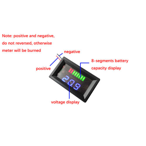 DC 60V Acid-Lead Battery Capacity Voltage Meter Digital LED Voltmeter Tester Car