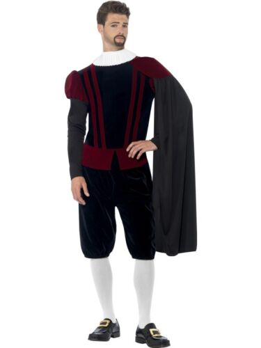 Details about  /Mens Tudor Lord Fancy Dress Costume Historical Gent Blackadder Outfit by Smiffys