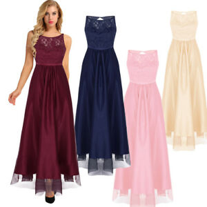 Womens-Formal-Wedding-Bridesmaid-Long-Evening-Party-Ball-Prom-Cocktail-Dress