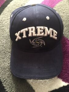 XFL-Los-Angeles-Xtreme-Vintage-Text-and-Logo-on-Navy-Blue-Adjustable-Hat