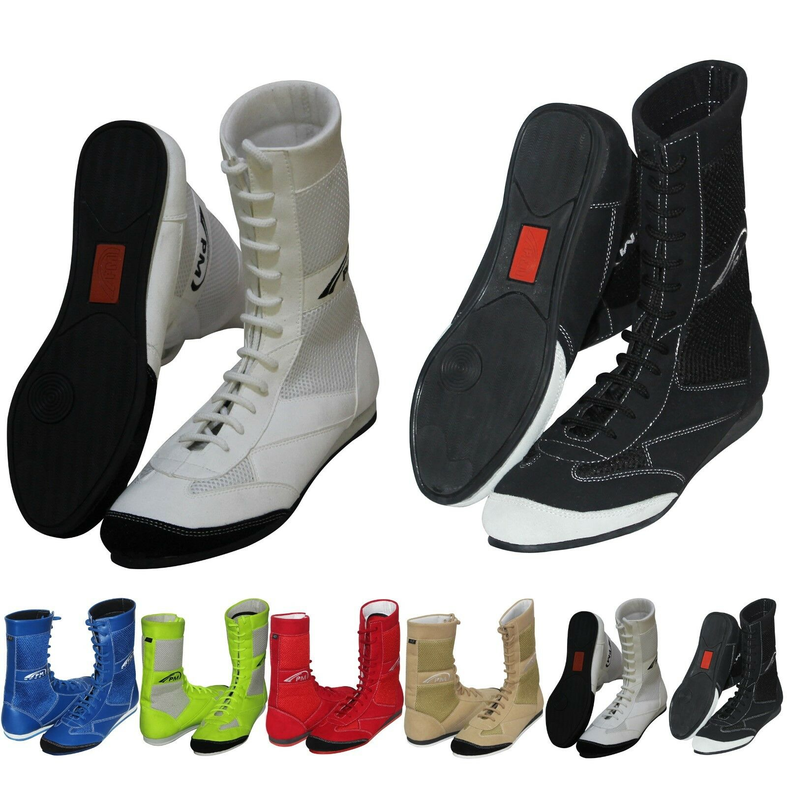 Boxing Boots Wrestling shoes 100% Pure Leather & Mesh Light Weight Adult Juniors