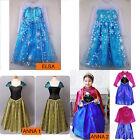 Princesse Elsa Robe Costume Déguisement Anna Fille Soirée Enfants Cosplay Frozen