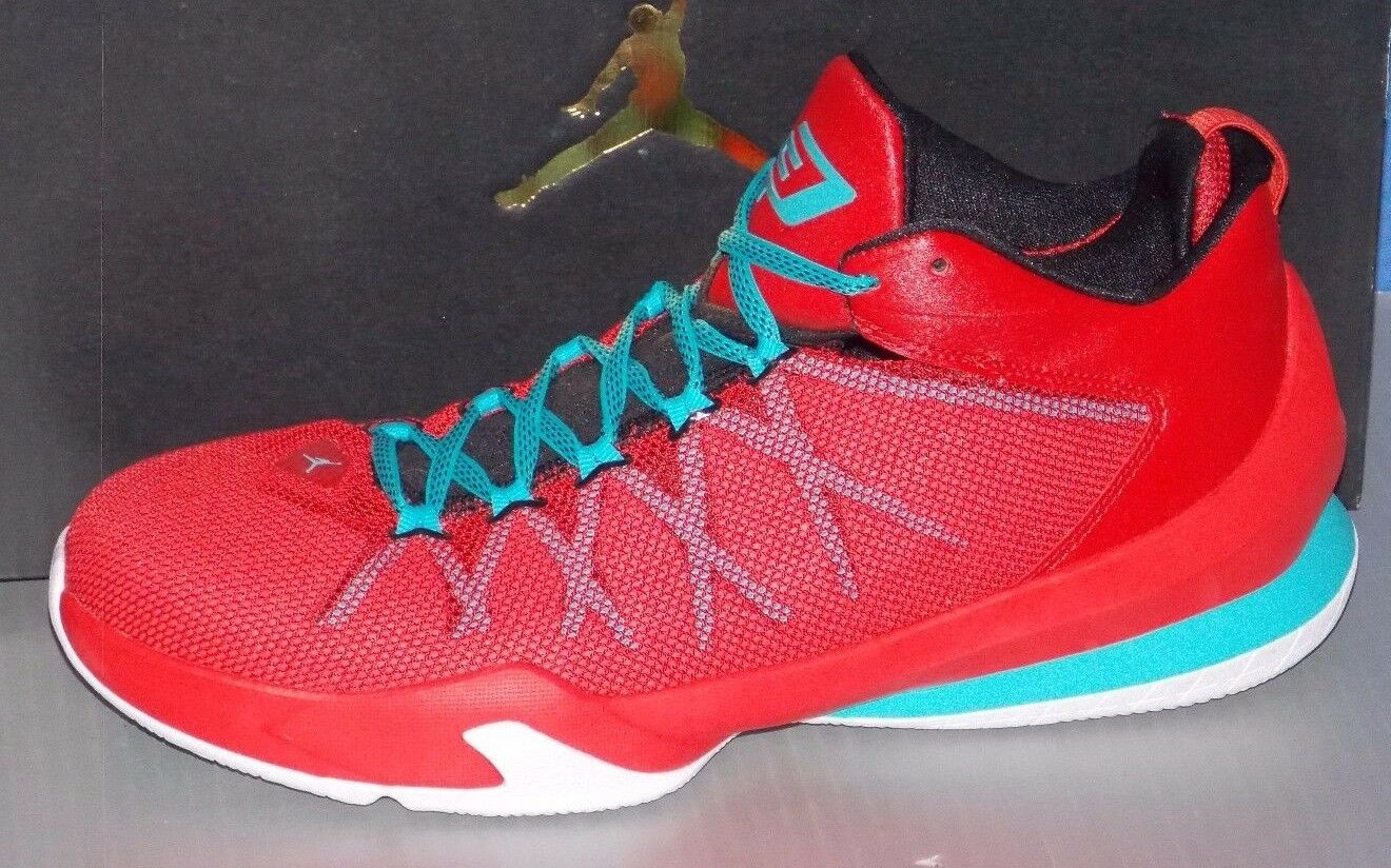 MENS NIKE JORDAN CP3.VIII AE in colors RED / BLUE / BLACK / WHITE  SIZE 10