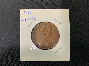 Very Rare New Pence 2p British Elizabeth II First & Final Release (1971 & 1981)
