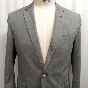 J-Crew-Ludlow-Cotton-Somelos-Unstructured-Sport-Coat-Blazer-Gray-38-Short-Jacket