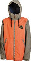 2014 Mens Nitro Revolution Snowboard Jacket Large Dark Army Orange