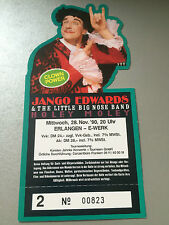 JANGO EDWARDS  2  1990  ERLANGEN     ++  ORIGINAL CONCERT - KONZERT - Ticket