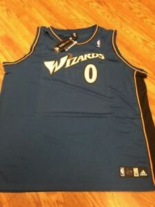 4d2cfeb498c Image is loading Gilbert-Arenas-0-Washington-Wizards-Adidas-Authentic-Blue-