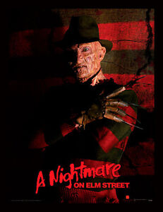 A-Nightmare-On-Elm-Street-Freddy-Krueger-Encadre-30-X-40-Officiel-Imprime