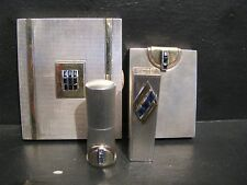 VINTAGE 1930'S ART DECO CARTIER STERLING SILVER 14K GOLD BLUE SAPPHIRE COMPACT