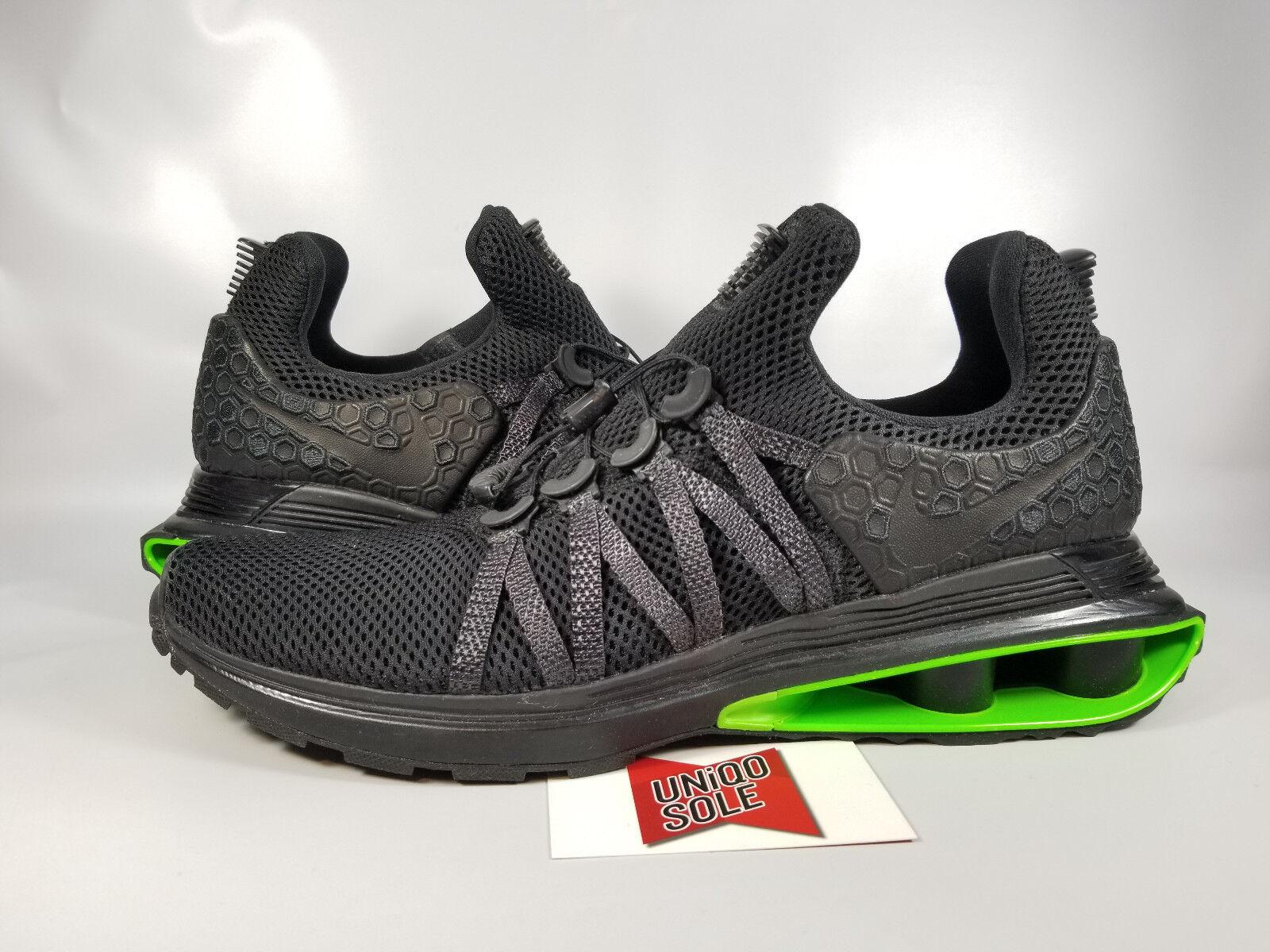 Nike Shox STRIKE Gravity Luxe BLACK GREEN STRIKE Shox VOLT AR1470-003 sz 11 TURBO NZ CHROME 49b0a9