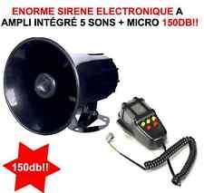 INCROYABLE HYPER PUISSANTE SIRENE 12V 100W 145db! 5 SONS + MEGAPHONE! GENIALE