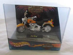 Brand New Harley Davidson Fat Boy Motorcycle Hot Wheels F661161 89461 Figure Ebay