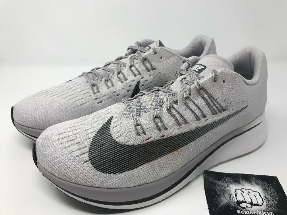 Nike Zoom Fly Vast Grey Anthracite Running Shoes 880848-002 Men's Size 12.5