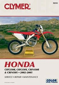 Details about Clymer Repair Service Shop Manual Vintage Honda CRF250F/X  02-05 CRF450R/X 02-05