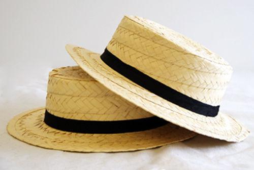 VICTORIAN-Edwardian-WORLD BOOK DAY-Fancy Dress-Danse-Spectacles Straw boater
