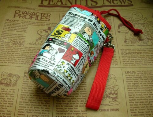 Bag News FREE SHIPPING Peanuts Snoopy Heat Insulated Bottle Carry Pouch