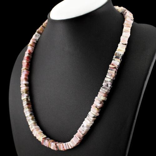 Best 265.00 Cts Naturel Non Traité Riche Rose Opale Australienne Perles Collier