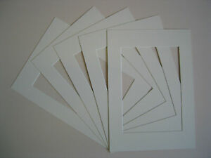 Pack-Of-10-IVORY-Photo-Picture-Mount-Frame-Mounts-All-Sizes-A3-A4-New