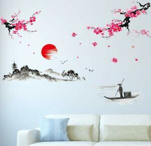 Wall Sticker Solimo For Living Room The Lake The Mountains Idea For Rooms Ebay