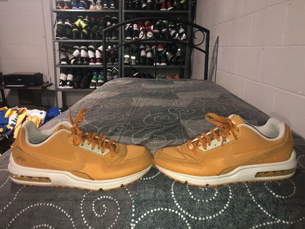 Nike Air Max LTD 3 Mens Leather Running Training shoes Size 12 Bronze Iron Ore