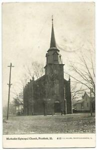 Details about Fairfield Illinois IL (Wayne County) Methodist Episcopal  Church 1909
