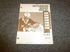 1972 Evinrude Mate 2 HP Outboard Motor Shop Service Repair Manual Guide Book
